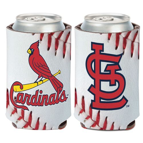WinCraft St. Louis Cardinals Ball Design 12 oz Can Cooler