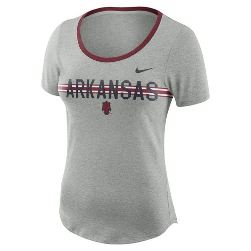 Nike™ Women's University of Arkansas Dry Strike Slub T-shirt