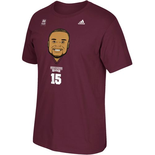 adidas Men's Mississippi State University Dak Prescott Big Head Legend T-shirt