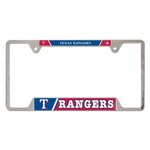 WinCraft Texas Rangers Metal License Plate Frame - view number 1