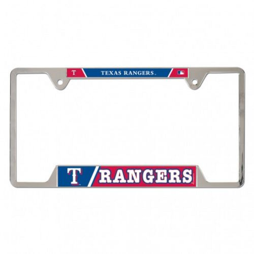 WinCraft Texas Rangers Metal License Plate Frame