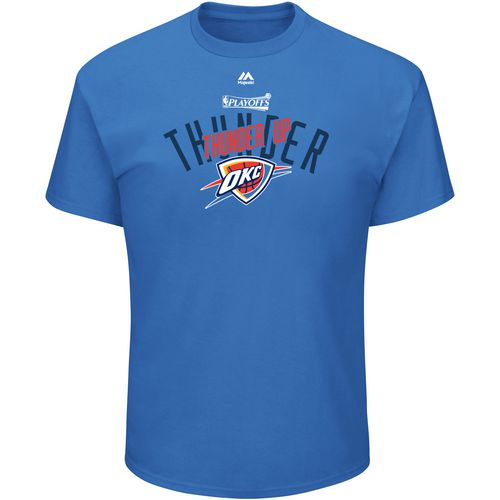 Majestic Men's Oklahoma City Thunder 2017 NBA Playoffs Tranistion Defense T-shirt