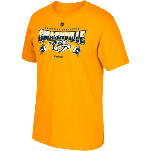 Reebok Men's Nashville Predators Smashville in Lights Short Sleeve T-shirt