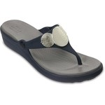 Crocs™ Women's Sanrah Embellished Wedge Flip-Flops - view number 2