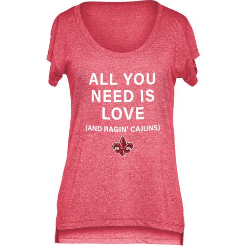 Chicka-d Women's University of Louisiana at Lafayette Scoop-Neck T-shirt