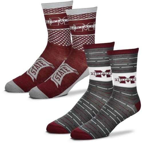 For Bare Feet Men's Mississippi State University Father's Day Socks