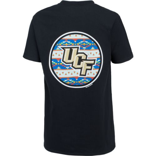 New World Graphics Women's University of Central Florida Logo Aztec T-shirt