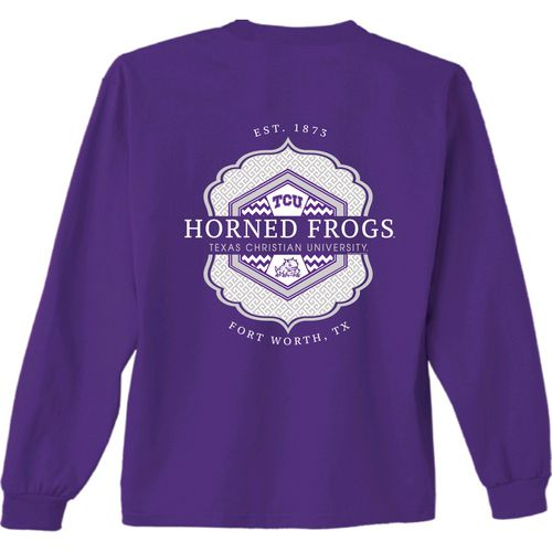New World Graphics Women's Texas Christian University Faux Pocket Long Sleeve T-shirt