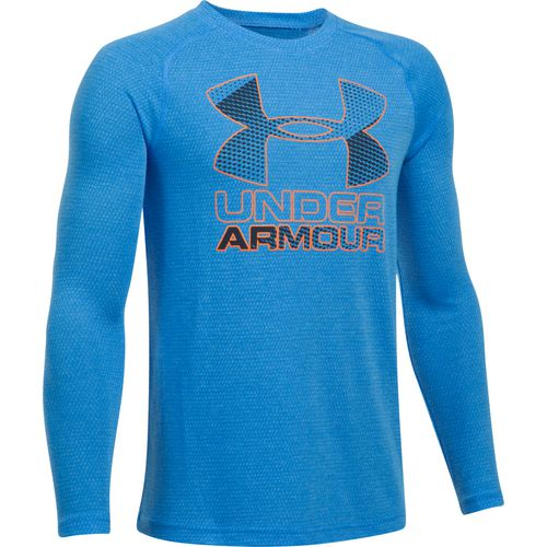 Under Armour Boys' Big Logo Hybrid Long Sleeve T-shirt