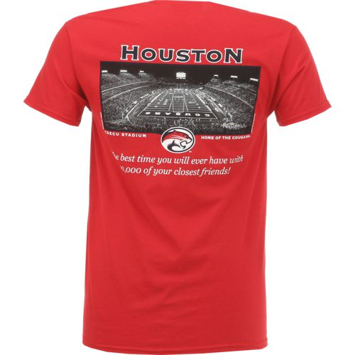 New World Graphics Men's University of Houston Friends Stadium T-shirt