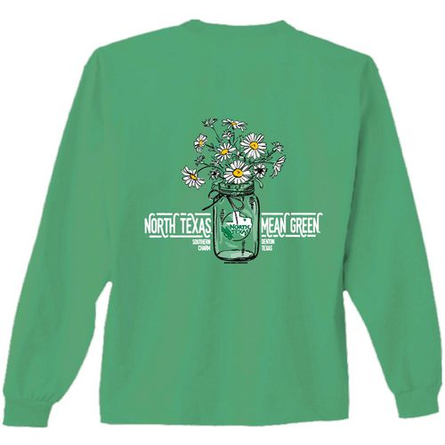 New World Graphics Women's University of North Texas Bouquet Long Sleeve T-shirt