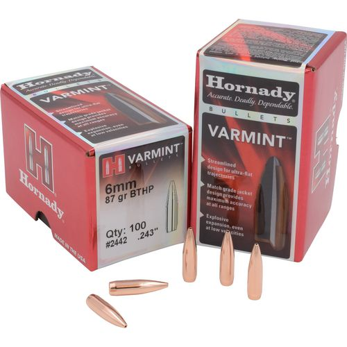 Hornady BTHP 6mm 87-Grain Rifle Bullets