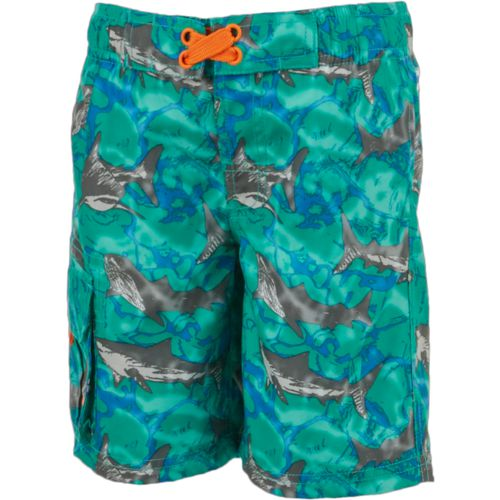O'Rageous Boys' Sketchy Shark Printed Boardshorts - view number 1