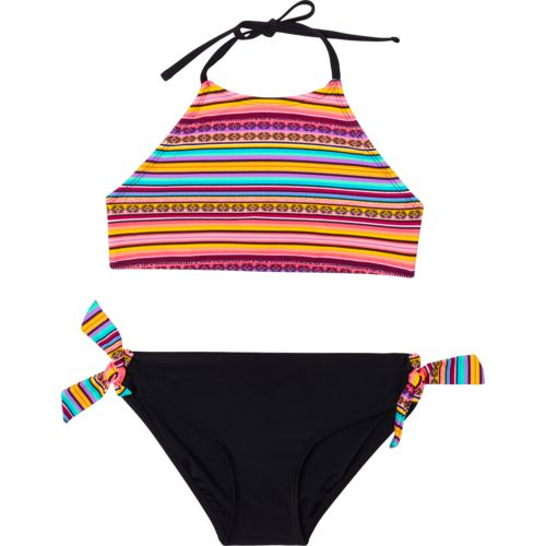 O'Rageous Girls' Fiesta Stripe 2-Piece Bikini