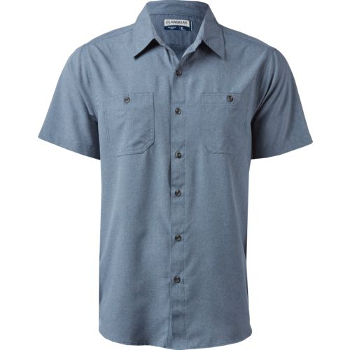 Magellan Outdoors Men's Caprock Dissolvable Poly Button Down Shirt