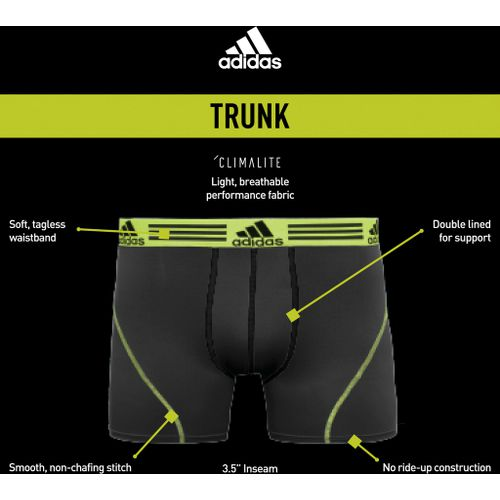 adidas Men's Sport Performance climalite Graphic Trunks 2-Pack - view number 2