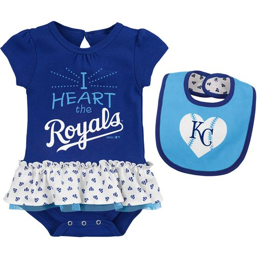 MLB Infants' Kansas City Royals Baseball Girl Creeper and Bib Set - view number 1