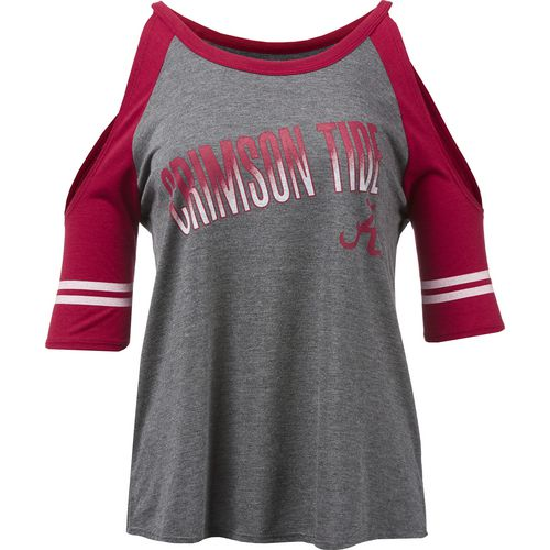 Colosseum Athletics Women's University of Alabama Maguire Cold Shoulder T-shirt