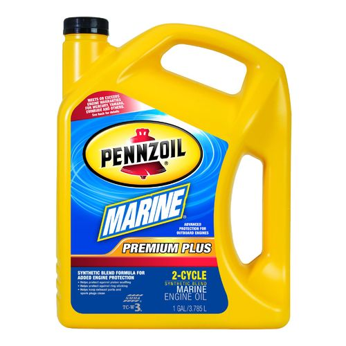 Pennzoil Marine Premium Plus 1-Gallon Synthetic Blend 2-Cycle Engine Oil