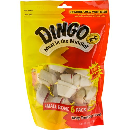 Dingo Meat in the Middle™ Small Rawhide Chews 6-Pack