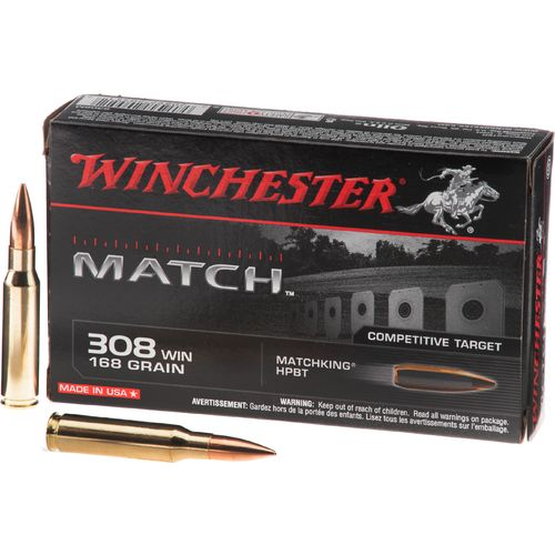 Display product reviews for Winchester Match .308 Winchester 168-Grain Centerfire Rifle Ammunition