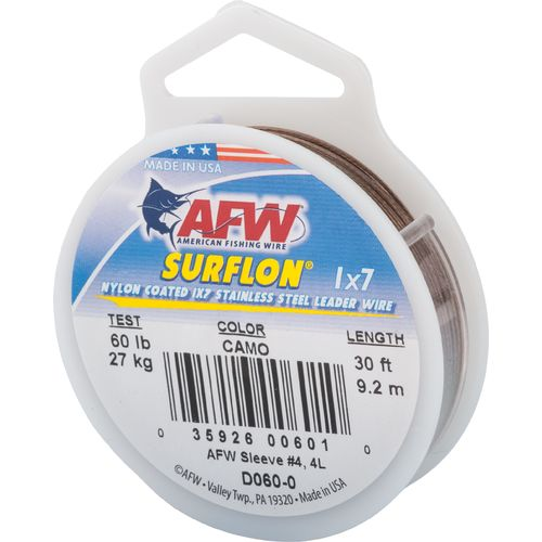 American Fishing Wire Surflon 60 lbs - 30 ft Leader Wire - view number 1