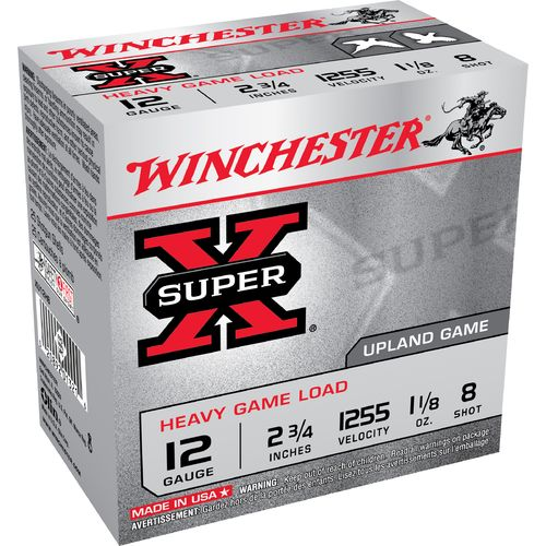 Winchester Super-X® Game and Field Loads 12 Gauge  8 Shotshells