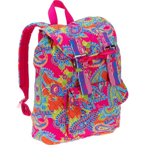 A. D. Sutton Women's Printed Cotton Quilted Backpack