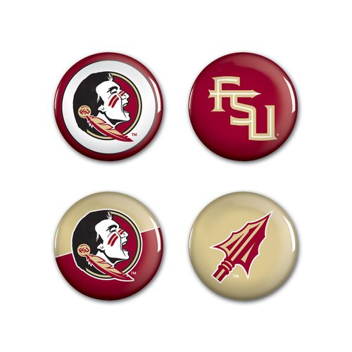 WinCraft Florida State University Buttons 4-Pack