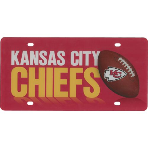 Stockdale Kansas City Chiefs Name and Football License Plate