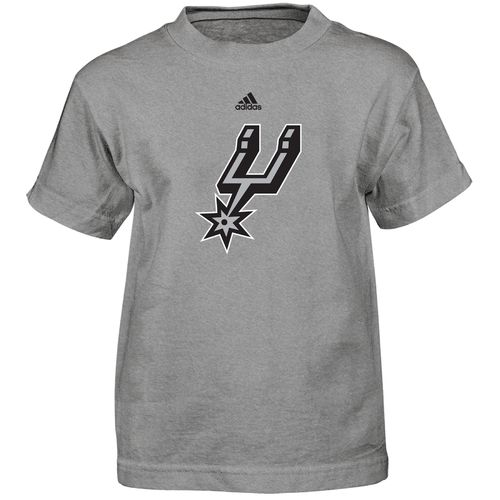 adidas™ Boys' San Antonio Spurs Primary Logo Short Sleeve T-shirt