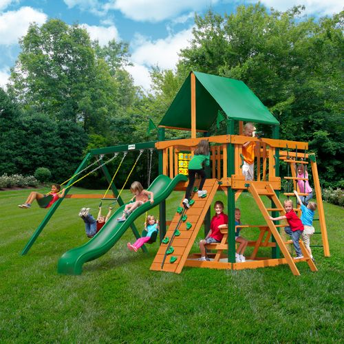 Gorilla Playsets™ Navigator Swing Set with Timber Shield™ and Deluxe Vinyl Canopy - view number 2