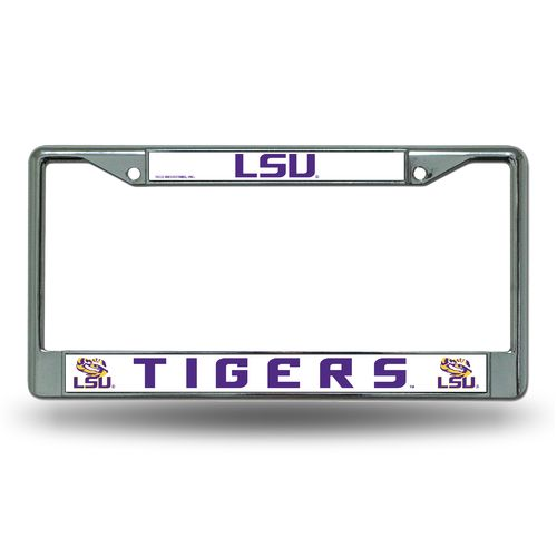 Rico Louisiana State University Chrome License Plate Frame - view number 1