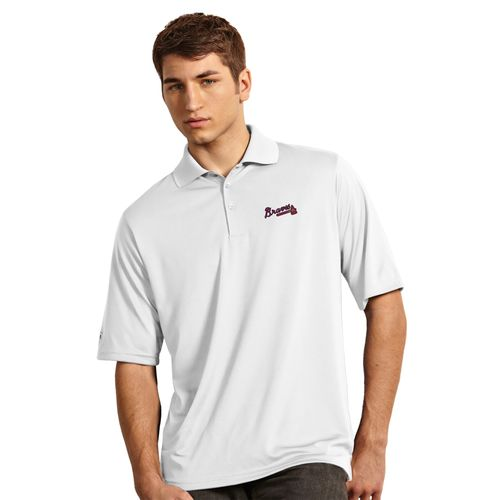 Antigua Men's Atlanta Braves Exceed Polo Shirt - view number 2