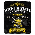 The Northwest Company Wichita State University Label Raschel Throw - view number 1