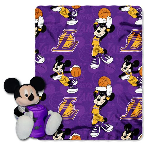 The Northwest Company Los Angeles Lakers Mickey Mouse Hugger and Fleece Throw Set