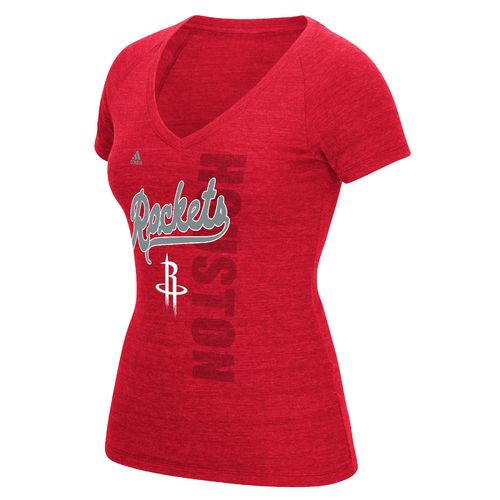 adidas™ Women's Houston Rockets Outline Script Tail Short Sleeve T-shirt