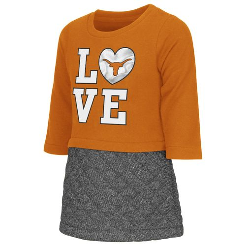 Colosseum Athletics Toddler Girls' University of Texas Glitter Dress