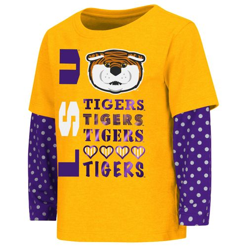 Colosseum Athletics Toddler Girls' Louisiana State University Super Cool Layered T-shirt