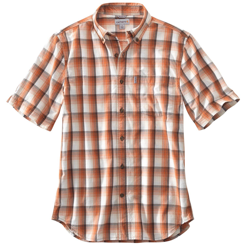 Carhartt Men's Essential Plaid Button Down Short Sleeve
