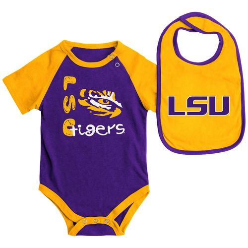 Colosseum Athletics Infants' Louisiana State University Rookie Onesie and Bib Set