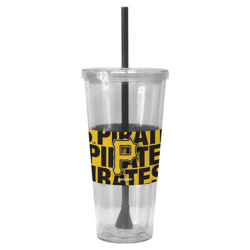 Boelter Brands Pittsburgh Pirates Bold Neo Sleeve 22 oz. Straw Tumblers 2-Pack