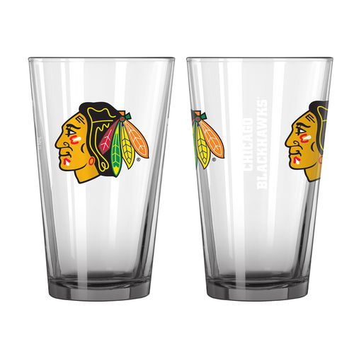 Boelter Brands Chicago Blackhawks Elite 16 oz. Pint Glasses 2-Pack