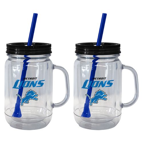 Boelter Brands Detroit Lions 20 oz. Handled Straw Tumblers 2-Pack - view number 1