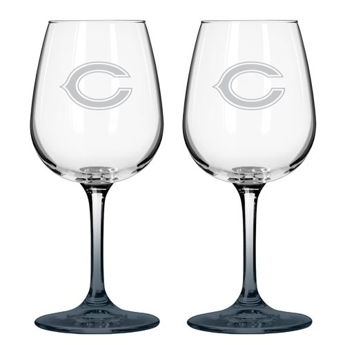 Boelter Brands Chicago Bears 12 oz. Wine Glasses