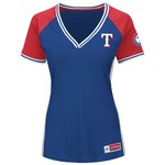 Majestic Women's Texas Rangers League Diva T-shirt