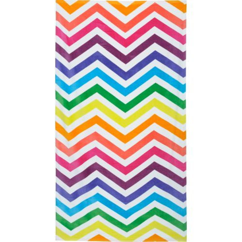 O'Rageous® Multi Bright Chevron Beach Towel