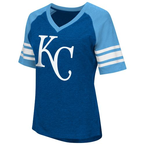 G-III for Her Women's Kansas City Royals G34Her Carve Up V-neck T-shirt