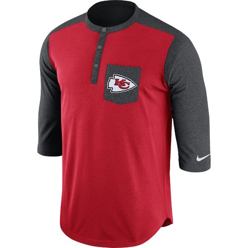 Nike Men's Kansas City Chiefs Dri-FIT Touch Henley Top