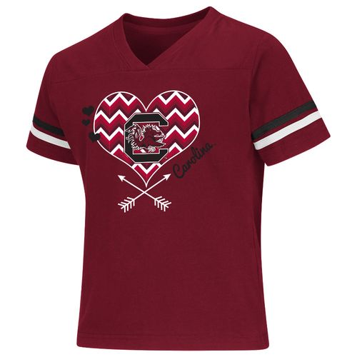 Colosseum Athletics Girls' University of South Carolina Football Fan T-shirt